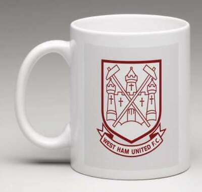 WEST HAM FC Retro WHU Club Badge Personalised HAMMERS Football Mug Gift  MWHU1