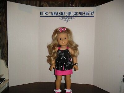 """American Girl 18"""" Doll Blond Hair/Brown Eyes with Freckles"""