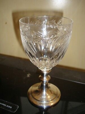 Sterling silver Signed and numbered wine Glass