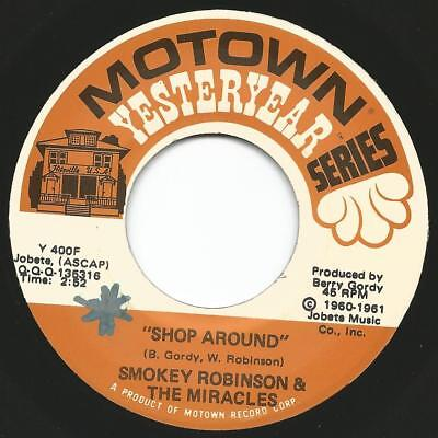 Smokey Robinson & The Miracles ‎– Shop Around / Way Over There 45 RPM Record