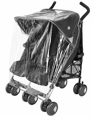 Raincover Compatible with Mountain Buggy Duet Twin Double Pushchair