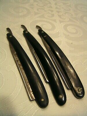 Vintage Lot Of 3 Straight Razors~2 Germany Pearlicross / Banty & Union Cutlery