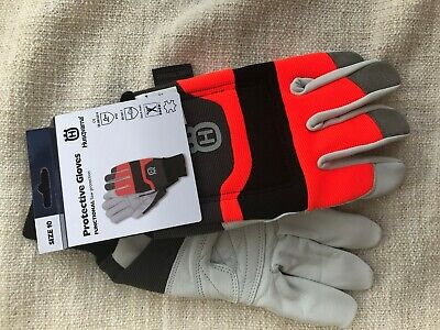 Husqvarna functional chainsaw protective gloves with saw protection size large
