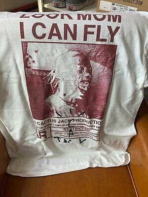 Travis Scott Look Mom I Can Fly Merch Tee SOLD OUT Size Large LIMITED Graphic