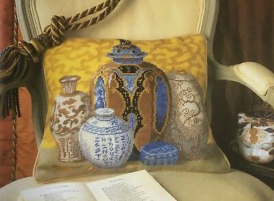 Graham Rust Tapestry Needlepoint Chart - Chinese Vases Cushion