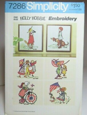 Simplicity 7286 Holly Hobbie Embroidery Transfers American Greetings  1975 Uncut