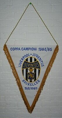 Gagliardetto European Cup Final 1985 Champions League Liverpool Juventus Pennant