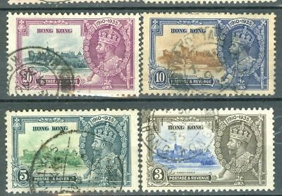 Hong Kong + India Topic KGV 1935 SILVER JUBILEE  2 diff set used #6188 & 6191