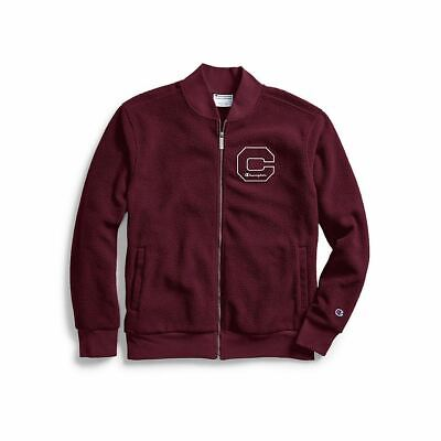 Champion Men's Heritage Sherpa Jacket w/Felt Block C Logo - 2 COLORS - S-2XL