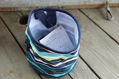 "Thirty-One Oh Snap Bin 6"" Sea Stripe Blue NWT"