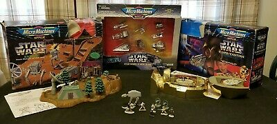 Galoob Micro Machines Star Wars Playsets Endor/  A New Hope/ Cantina & Extras