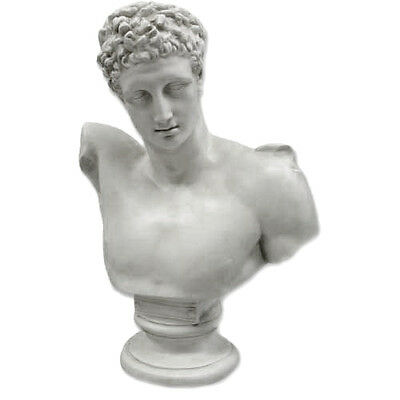 """Extra Large Greek Gold Hermes bust 38"""" Museum Sculpture Replica Reproduction"""