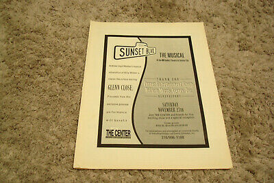 SUNSET BLVD. THE MUSICAL at Shubert Theatre in Century City 1995 ad Glenn Close