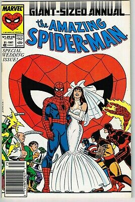 Amazing Spiderman Annual #21 (1963) - 9.0 VF/NM *Wedding Newsstand Cover*