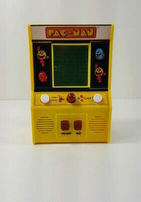 Pac Man Handheld Electronic Mini Arcade Game 09521 Battery Operated TESTED