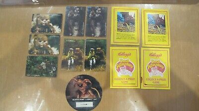1984 Kelloggs EWOK ADVENTURE Cards & 1983 Return Of The Jedi Decoder Disc.