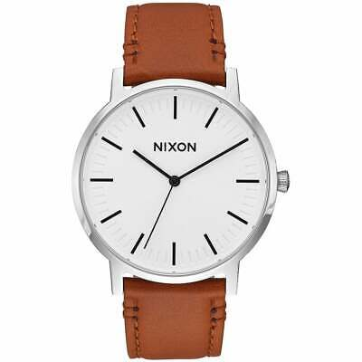 Nixon Porter Leather Homme Montre - White Sunray Saddle Une Taille
