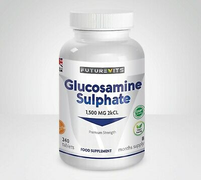 Glucosamine Sulphate 1500 mg High Strength 2KCl 240 Tablets Futurevits Made UK