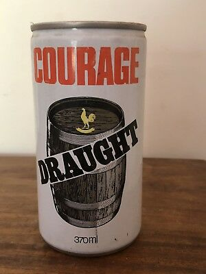 Collectable Courage Draught BEER CAN Pull Ring 370ml