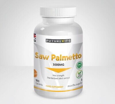 Saw Palmetto 3000mg Aid Prostate Health Vitamins Aids Hair Loss MAX Strength