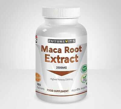 Maca Root 2500mg Tablets Not Capsules Double Strength Sexual Health Libido UK