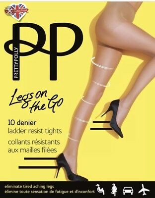 Holiday Flight Socks NATURAL Pretty Polly LEGS ON THE GO Compression Sock