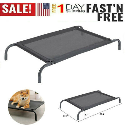 Elevated Dog Bed Lounger Sleep Pet Cat Raised Cot Hammock for Indoor Outdoor-US