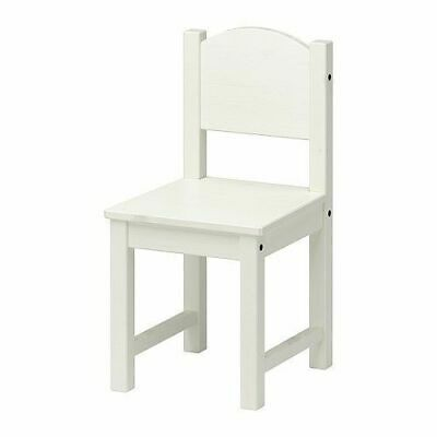 Ikea Nursery Home Kids Childrens Wooden Chair, Bedroom Playing Chair, White