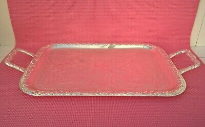 Silver Plated Serving Tray Made In England