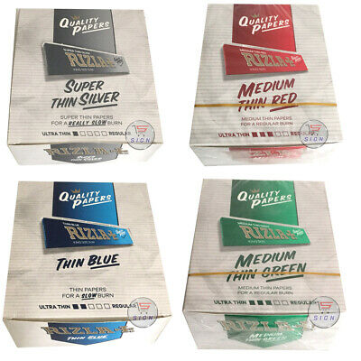 Rizla Regular Genuine Red Green Silver Blue King Size Cigarette Rolling Papers