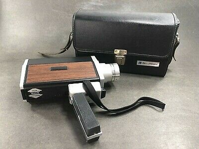 RARE Vintage BELL & HOWELL™ AUTOLOAD SUPER 8 Zoom Movie Camera & Leather Case