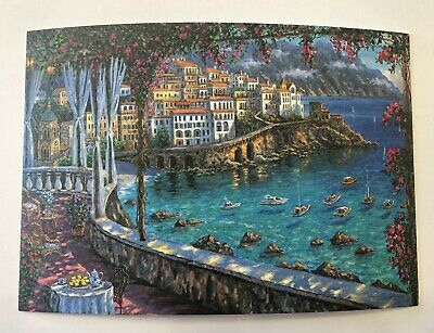 PostCard Of Italy-4,1/2x6,3/4inch Amalfi printed On Pounded Paper.-MadeInItaly