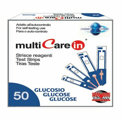 Multicare - GLUCOSE STRIPS - for code 23965/66/67 - box of 50 pcs.