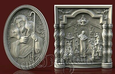 2 3D STL Models Religion Jesus CNC Router Carving Machine Artcam aspire Vcarve