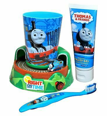 NEW Thomas and Friends Train Timer Toothbrush Gift Set For Kids Toothpaste & Cup