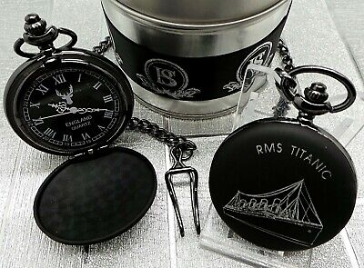 RMS TITANIC Pocket Watch Ship Cruiser Engraved Custom Personalised  Luxury Gift
