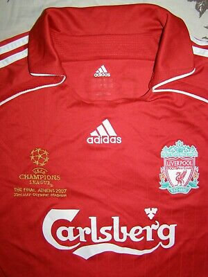 Gerrard 8 Champions League Final 2007 Liverpool home shirt size XL jersey