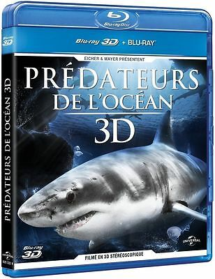 Blu Ray 3D : Prédateurs de l'Ocean 3D + Version 2D - NEUF
