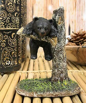 "Ebros 14.5/"" Tall Funny Forest Black Bear Toilet Brush Scrub and Base Holder Set"