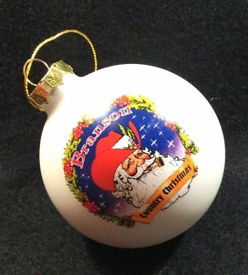Branson ,Missouri(2) White-Blue Santa  Ornament For Your Tree Or To Keep As Gift