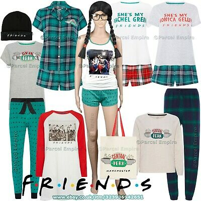 Official FRIENDS Ladies PYJAMAS, Tartan, Cami, Photo-Print, Pajamas Central Perk