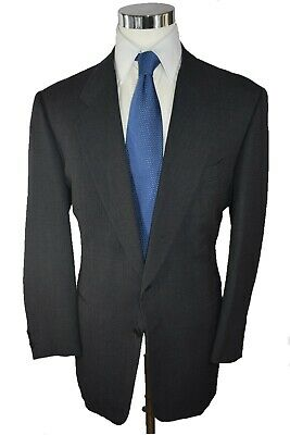 Pal Zileri for Syd Jerome Charcoal Textured 100% Wool 2-Btn Suit 42R