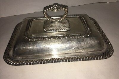 11 Inch Silver Plate Cheltenham SERVING TRAY CENTERPIECE BOWL ENGLISH SHELL