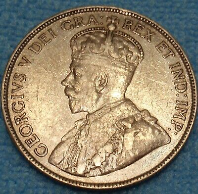 1916 VF-EF Canada 50 Cents KING GEORGE V SILVER Rare SILVER Half Dollar Coin WOW