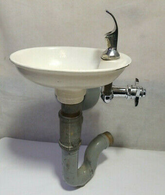 Vintage Wall Water Drinking Fountain Bubbler School park Industrial cast
