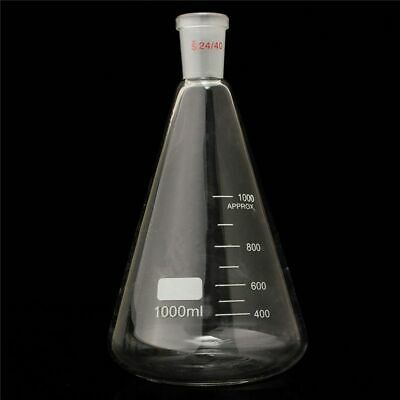 Erlenmeyer Flask Conical Bottle Lab Chemistry Glassware Supplies 1000ml/1L