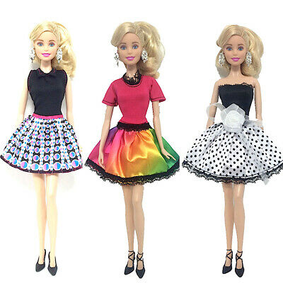 Brand new barbie doll clothes outfit clothing sets set of 3 outfit party mini