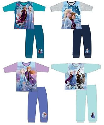 Disney Official Frozen 2 Girls Pyjamas Anna & Elsa Pjs Age 18 months to 10 Years