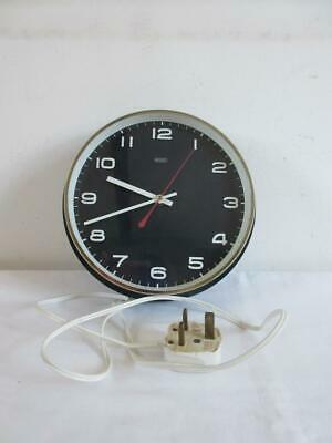 Super Vintage Retro 1960'S/70'S Blue Hard Plastic Metamec Electric Wall Clock