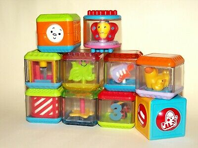 10 x Fisher Price Peek A Boo Blocks Assorted Mixed Lot